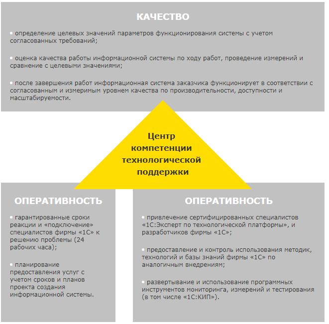 Технологии внедрения и авторский надзор, Технологическая поддержка построения крупных ИС (услуги ЦКТП)